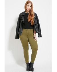 Forever 21 - Green Plus Size Skinny Jeans - Lyst