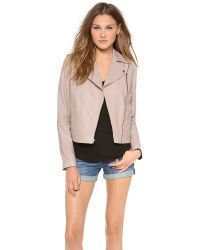Vince - Natural Vintage Leather Moto Jacket - Lyst
