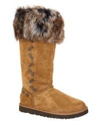 UGG | Brown Rosana Sheepskin Boots | Lyst