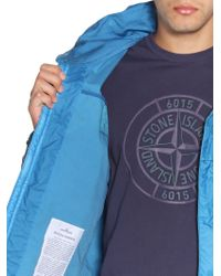 Stone Island | Blue Garment Dyed Coated Muslin Casual Jacket for Men | Lyst