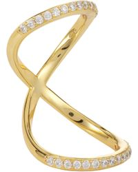 Fallon | Metallic Pavé Infinity Bent Ring | Lyst