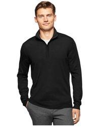 Calvin Klein | Black Mock Neck Sweater for Men | Lyst