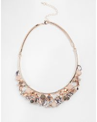 Oasis | Metallic Semi Precious Mixed Stone Articulated Collar | Lyst