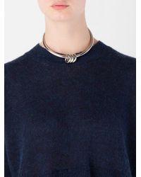 MM6 by Maison Martin Margiela   Metallic Ring Detail Choker Necklace   Lyst