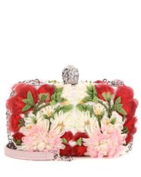 Alexander McQueen - Multicolor Embellished Fabric Box Clutch - Lyst