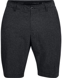 Under Armour - Black Showdown Vented Tapered Golf Shorts for Men - Lyst