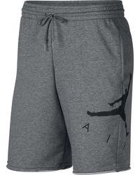 Nike - Gray Sportswear Jumpman Air Graphic Fleece Shorts for Men - Lyst