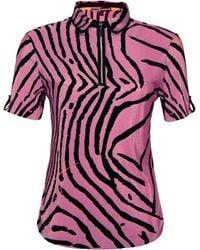 Jamie Sadock - Pink Jaime Sadock Tiger Fish Crinkle Short Sleeve Polo - Lyst