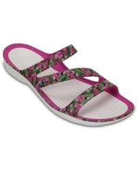 Crocs™ Pink Swiftwater Graphic Sandals
