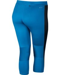 Nike - Blue Essential Cropped Tights – Plus Size - Lyst