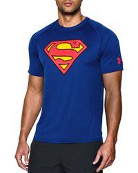 Under Armour - Blue Alter Ego Superman T-shirt for Men - Lyst