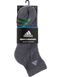 Adidas - Multicolor Color Cushioned Quarter Socks 3 Pack for Men - Lyst