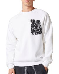1fa543733202a Lyst - adidas Originals Nmd Patch Pocket Sweatshirt in White for Men