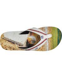 Reef Multicolor Aseball Flip Flops for men