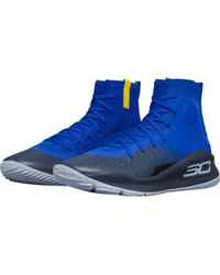 Under Armour Blue Curry 4 Basketball Shoes for men