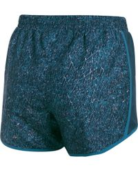 Under Armour - Blue Fly By Printed Shorts - Lyst