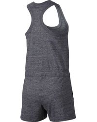 Nike - Gray Gym Vintage Romper - Lyst