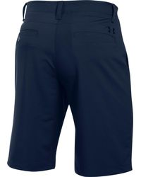 14cb64ba41 Under Armour Match Play Golf Shorts in Blue for Men - Lyst