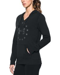 Under Armour - Black Freedom Logo Favorite Fleece Hoodie - Lyst