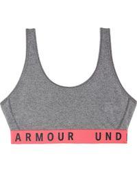 Under Armour - Gray Favorite Cotton Everyday Heather Bra - Lyst