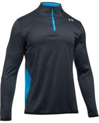 2e9b8198 Under Armour Coldgear Reactor 1/4 Zip Long Sleeve T-shirt in Blue ...
