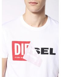DIESEL - White T-diego-qa for Men - Lyst