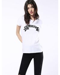 DIESEL | White T-sully-at | Lyst