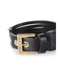 DIESEL - Black Amoonx Bracelet - Lyst