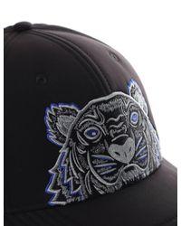 KENZO - Black Tiger Cap for Men - Lyst