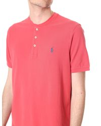 Polo Ralph Lauren - Pink Featherweight Mesh Short Sleeve Henley Top for Men - Lyst