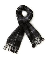Polo Ralph Lauren - Black Reversible Stable Plaid Muffler for Men - Lyst