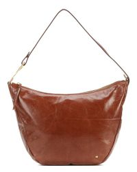 75841ab837 Lyst - Halston Elsa Convertible Hobo Bag in Brown