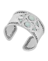 Lucky Brand | Metallic Jade Statement Cuff Bracelet | Lyst