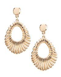 Dillard's - Metallic Graduated Shrimp Drop Statement Earrings - Lyst
