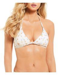 Antonio Melani - White Melody Small Halter Bralette Bikini Swimsuit Top Made With Liberty Fabrics - Lyst