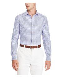 Polo Ralph Lauren - Blue Check Plaid Poplin Long-sleeve Woven Shirt for Men - Lyst
