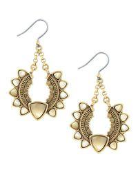 Lucky Brand - Metallic Sunburst Drop Earrings - Lyst