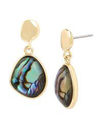 Kenneth Cole - Metallic Abalone Drop Earrings - Lyst