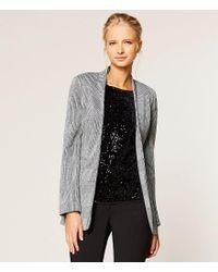 Calvin Klein - Black Glen Plaid Knit Jacket - Lyst