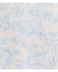 Miss Elaine - Pink Floral-print Lawn Short Gown - Lyst