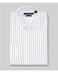 John Varvatos Blue Star Usa Slim Fit Spread Collar Hash Pattern Dress Shirt for men