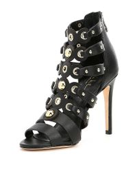 Nicole Miller - Black Napoli Gladiator Dress Sandals - Lyst