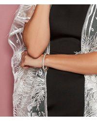 Belle By Badgley Mischka - Metallic Pav Hinged Bracelet - Lyst