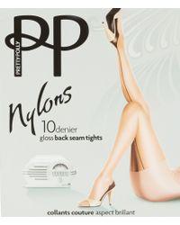 Pretty Polly - Natural Nylon Backseam Tights - Lyst
