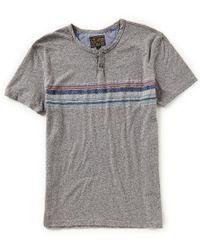 Lucky Brand - Gray Short-sleeve Novelty Button Notch T-shirt for Men - Lyst