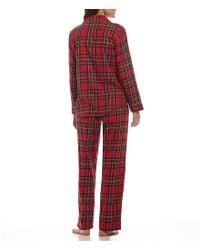 Lauren by Ralph Lauren - Red Plaid Classic Pajamas - Lyst
