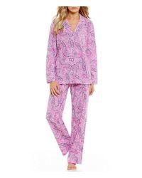 Lauren by Ralph Lauren - Pink Paisley-print Pajamas - Lyst
