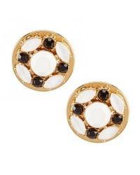 Kate Spade - Multicolor Jeweled Tile Stud Earrings - Lyst