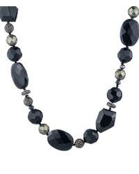 Lauren by Ralph Lauren   Blue Pyrite Collar Necklace   Lyst