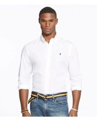 Polo Ralph Lauren - White Big & Tall Cotton Solid Poplin Shirt for Men - Lyst